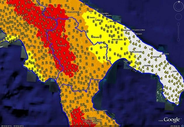 L instabilit geologica dell italia tra terremoti e for Mappa sismica italia